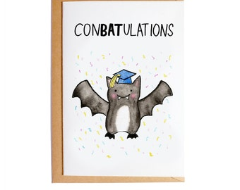 Conbatulations - A6 Blank Card - Watercolour - Pun
