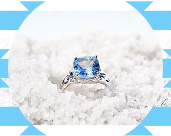 DagDa presents  DIANE  Sky Blue Topaz