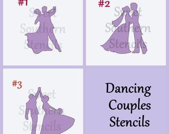 Dancing Couples Stencils  (3 separate stencils)