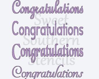 Congratulations Large Stencil