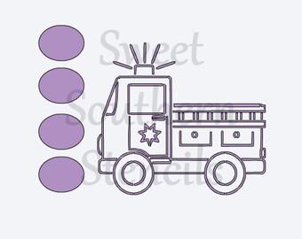 PYO Fire Truck Cookie Stencil