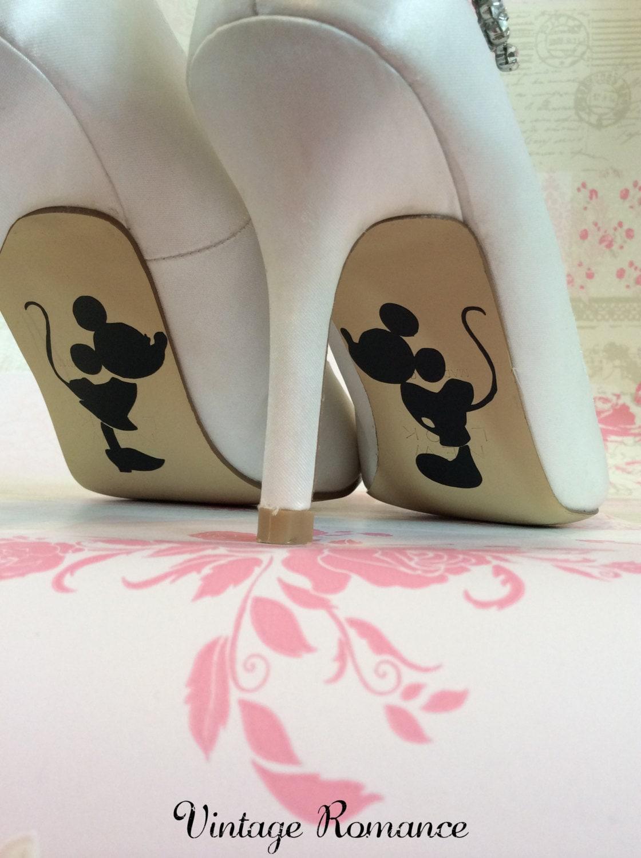 mickey und minnie mouse disney hochzeit tag braut schuh sohle. Black Bedroom Furniture Sets. Home Design Ideas
