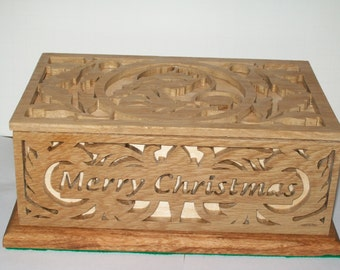 Christmas Fretwork Box