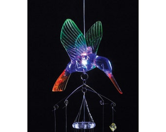 Hummingbird Windchimes that Lights Up