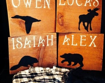 Kids room sign, Rustic personalized bedroom signs, wood sign, hand painted, cottage decor