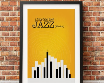 "Original Print Inspired by A Tribe Called Quest's ""Jazz (We Got)""- Version One"
