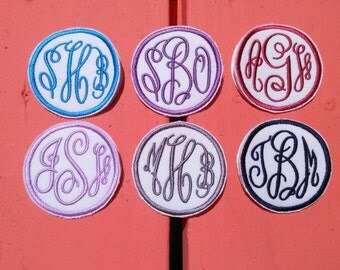 Custom Monogram and Color Iron On Patch! Small 2 1/2x2 1/2