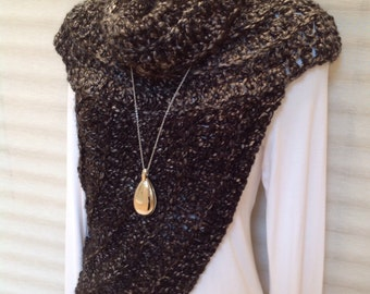 Katniss Inspired Cowl Wrap Top - as worn in the Hunger Games movie