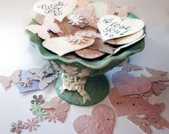 300 Plantable Wildflower Seed Paper Confetti Butterflies Hearts Flowers Table Decorations Wedding Shower Party Favors