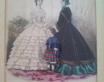 Journal des demoiselles, two tables