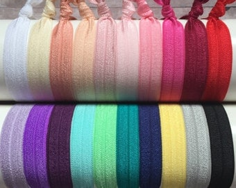 FOE Hair Ties, 20 Pack, Ponytail Holder, No Crease Hair Ties, Knotted Hair Ties, Elastic Hair Ties, Girls Hair Ties, Yoga Hair Ties