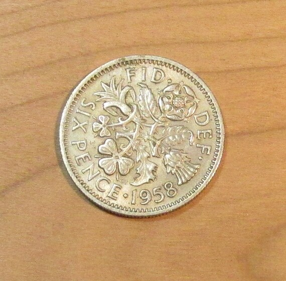6 Pence Wedding Gift : British Wedding Sixpence, Great Britain 6 pence coin, lucky six pence ...