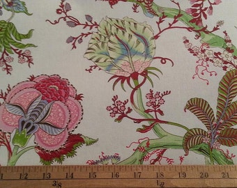 """French Floral Toile Decorator fabric 108"""" wide"""