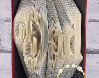 Dad Book Folding Pattern Perfect For Fathers Day / Birthdays / Christmas Book Art (242 Folds) With Tutorial