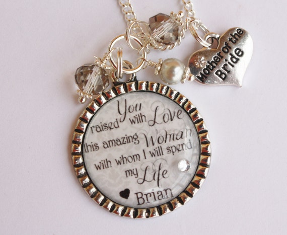Mother Of The Groom Gift: Items Similar To Wedding Sentimental Quote Necklace Or
