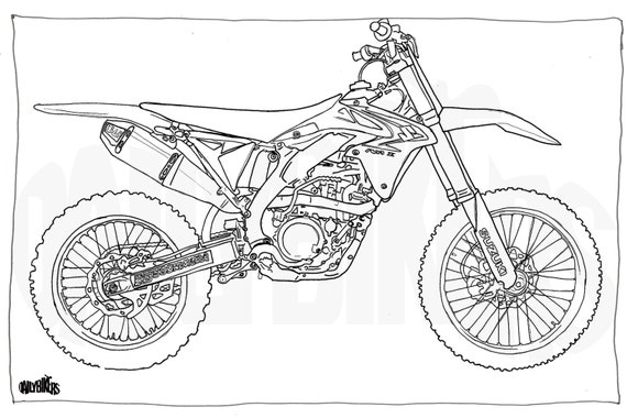 Page colorier adulte moto illustration coloriage moto - Dessin moto ktm a colorier ...