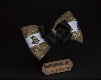 Knights Inspired Hair Bow, University of Central Florida, UCF, Sports Inspired Hair Bow, Handmade