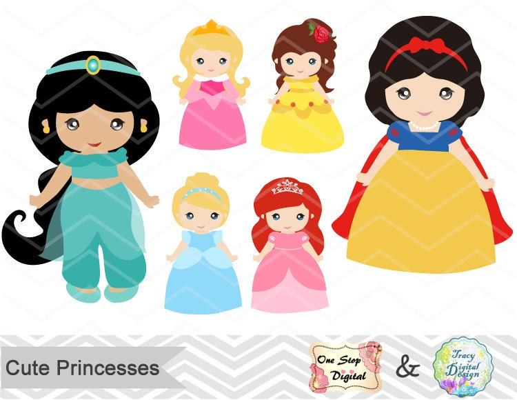 Digital Princess Clipart Disney Princess Clip Art Cute