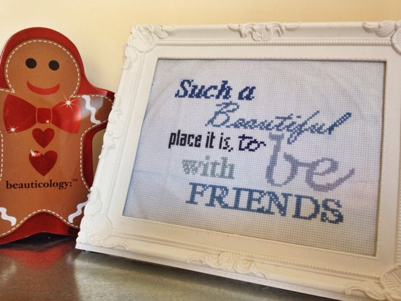 Framed Cross Stitch Dobby Quote Such A By Emilygracemakes On Etsy