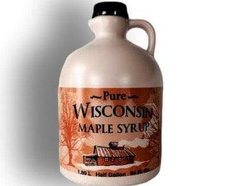 Pure Wisconsin Maple Syrup 1/2 Gallon Grade B