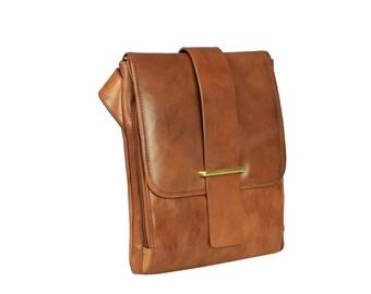 Messenger Bag, Leather Messenger Bag for Men, Handbag, Shoulder Bag - Pinocchio