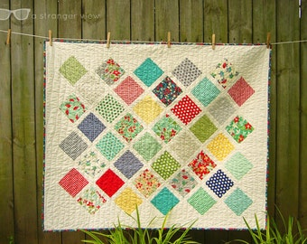 Modern Squares Baby Quilt
