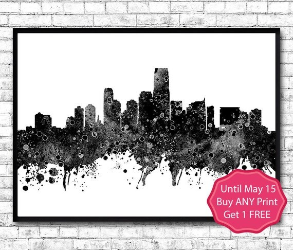 Jersey 3 Watercolor Print City Skyline Jersey By Artsprint