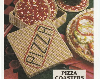 Pizza, Pizza, Pizza Coasters in Plastic Canvas