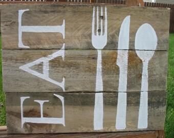 Eat Pallet Sign