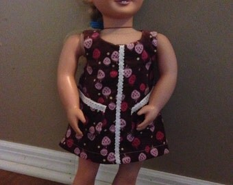 """18"""" Doll Jumper with strawberries"""