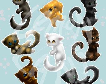 50% OFF Fluffy Kitties Clip Art, scrapbook supplies, scrapbook supply, cat clipart, clip art,