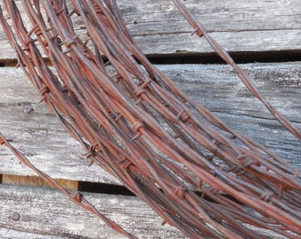 10ft Rustic Barb Wire- For Home decor, crafts, wedding crafts, Garden art or Wreaths