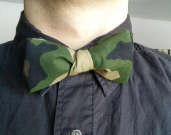 Camouflage Tie, Camo Bow Tie, Men's Camo Bowtie, Self Tie Bow Tie, Self-Tie Bowtie, Men's Camo Tie, Bow Tie, Bowtie, Cotton Bowtie, Mens Tie