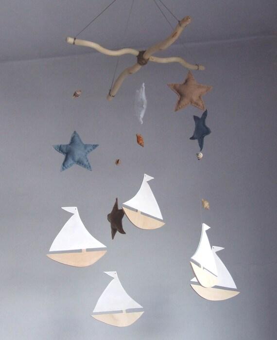 segelboot kinderzimmer baby mobile segelboot mobile