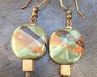 Ngong Hills Kazuri Bead Earrings