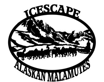 Alaskan Malamute custom sign, house No , kennel, Alaskan Malamute, Husky, sled dog, memorial plaque