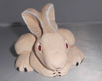Vintage Clay Sculpted Rabbit