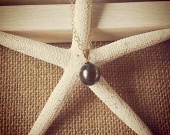 Tahitian Pearl Drop Necklace
