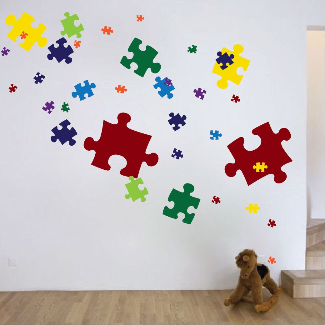 Puzzle Piece Wall Decor puzzle piece wall decals puzzle piece wall mural puzzle piece