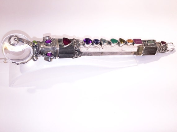 Exqusite Crystal Amp Gemstone Chakra Wand One Of A Kind
