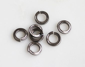 S4-136-3-M] 5mm / Gunmetal plated / Flat Round Jumping / 10 piece(s)