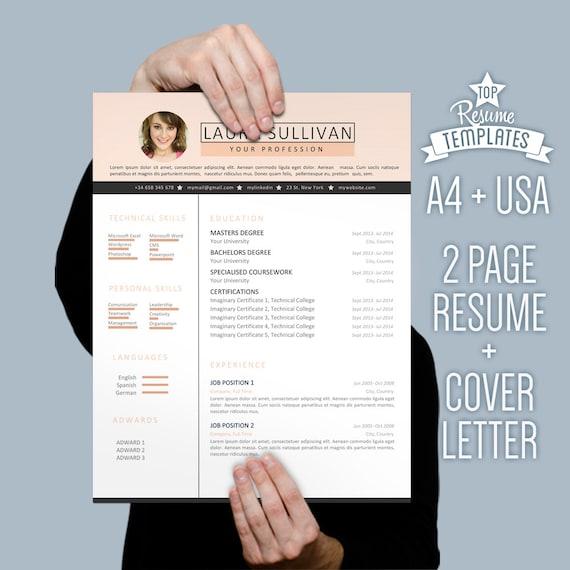 Plantilla Curriculum Vitae Carta Por TopBusinessTemplates