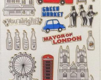 Shiny London Stickers