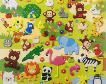 Cute Animal Stickers from Japan - Animal Land