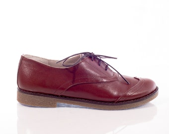 Jane Brown Leather Oxford Shoes