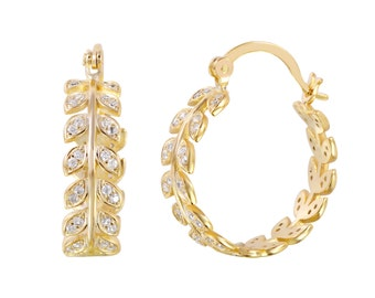 Earrings 925 silver Rhodium and Goldplated