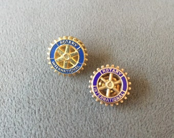Vintage Gold Tone Rotary International Pin and/or Tie Tack