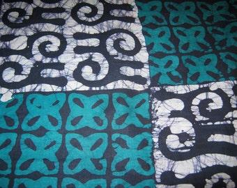 1/2 Yard Cut - African Batik Print - Cotton Fabric