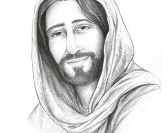 Image result for Jesus pencil art