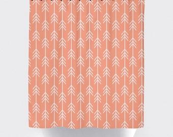 Stunning Peach Shower Curtain Gallery Interior Design Ideas